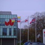 Bedfordshire Flag flying at the University of Bedfordshire, Polhill Cumpus